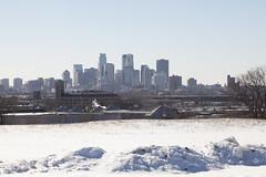 Minneapolis winter blues (Lucie Maru) Tags: city urban snow cold minnesota skyline north freezing minneapolis