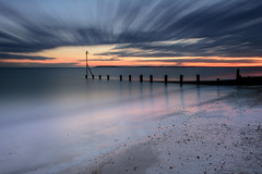 Darkness Falls (Sunset Snapper) Tags: uk longexposure sunset clouds sand nikon post stones haylingisland dramatic hampshire lee nd february filters grad southcoast groyne 2016 2470mm darknessfalls sandypoint d810 sunsetsnapper littlestopper