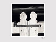 Close.jpg (John Ryland) Tags: sunset bw church monochrome wooden gate gloucestershire latch frampton