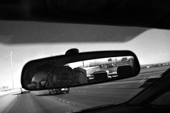 (Pidgeon Punch) Tags: road camera las vegas portrait cars sign self mirror highway driving nevada d7200