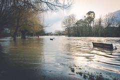 Flooded Severn Meadows (Sam Allard Photography) Tags: uk winter sunset england river landscape flood theatre holy trinity february avon warwickshire stratford upon midlands rsc