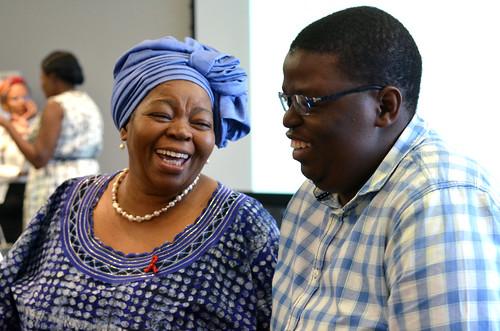 Prof Sheila and Tshepo