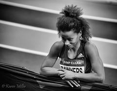 Women's Long Jump (kfjmiller) Tags: blackandwhite monochrome athletics women indoor trackandfield karenmiller glasgowgrandprix niksoftware emiratesarena define2 silverefexpro2 jazminsawyers sefx2