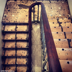 Staircase (peterphotographic) Tags: old uk england london apple stairs square punk britain song decay step staircase coventgarden bannister carluccios iphone lyric enlight 6s siouxsieandthebanshees staircasemystery peterhall 201603041557511wm