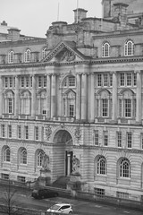 The front of the Port of Liverpool building (Tetisheri13) Tags: blackandwhite heritage architecture liverpool buildings worldheritage portofliverpool