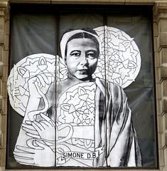 Simone de Beauvoir - Street art, #14, Montreal, July 2015 (Judith B. Gandy) Tags: urban streetart canada streets art cityscape montreal cities qubec publicart beauvoir simonedebeauvoir