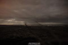 More rays (Ed.ward) Tags: ocean sea sky moon holiday clouds iceland horizon rays atlanticocean 2014 nikond700 nikonaffisheyenikkor16mmf28d nikonafnikkor20mmf28