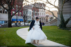 Delong & Hyeon (Jun Bug) Tags: city family wedding portrait love students architecture dinner asian bride hall couple lafayette dress outdoor group marriage indiana indoor phd bridegroom marry westlafayette purdueuniversity weddingphotography lafayettecityhall