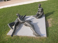 Nudism in Potsdam (quinet) Tags: statue germany potsdam fkk nudisme freikrperkultur 2013 nudismus