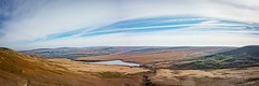 March Haigh Pano 2 (Jon) Tags: panorama west field weather landscape march warm cloudy outdoor heather pano sony yorkshire north sunny trail views moor grassland saddleworth haig 2016 rx100 sonyrx100 marchhaif