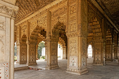 Diwan-i-Khas / Red Fort (marko.erman) Tags: city flowers red india architecture hall site sandstone audience fort piers delhi sony arches palace unesco worldheritagesite marble emperor colonnade shah colonne redfort arche jahan inlaid mughal diwanikhas