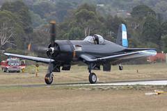 F4U-5N VH-III 8 (joolsgriff) Tags: fighter wwii airshow corsair chance warbird 2016 vought tyabb f4u5n 124493 ytya fah603 peninsulaaeroclub vhiii