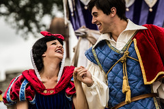 Snow and Her Prince (EatThisLight) Tags: show cute love smile face orlando couple princess florida character magic prince disney wdw waltdisneyworld snowwhite truelove themepark magickingdom disneyprincess dreamalongwithmickey
