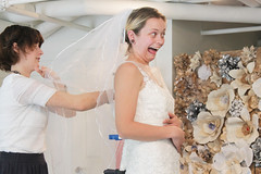 Beautiful bride. Hahaha (KaseyEriksen) Tags: wedding funnyface silly bride funny married dress olivia daughter marriage ham liv larouche