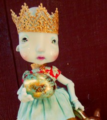 "Sugar Plum has an Easter Gift for you! (melanidee ""Lace Princess"") Tags: easter princess circus eggs bjd rabbits kane humpty sugarplum nefer goldencrown atomicblythedress"
