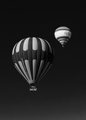 Balloons Over Cappadocia (Karen Carmen) Tags: sky turkey blackwhite balloon hotairballoon float cappadocia