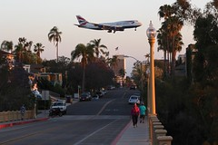 British Airways (So Cal Metro) Tags: plane airplane sandiego aircraft jet british boeing 1stavenue firstave britishairways 747 jumbojet airliner 747400 744 bankershill