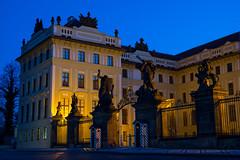 Prague Castle (romanboed) Tags: leica morning blue castle compound gate europe open czech prague president prag praha praga palace m hour government 50 bohemia summilux hrad praag guardhouse 240 rano brana namesti hradcanske
