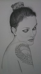 the girl with the dragon tattoo (who_van) Tags: pencil leighton meester