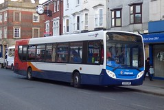 Stagecoach South 27553 (GX58 GME) Bognor Regis 31/3/16 (jmupton2000) Tags: uk bus sussex south portsmouth coastline 300 alexander dennis 700 stagecoach chichester enviro southdown coastliner gx58gme
