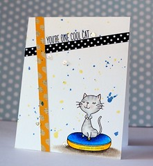 You're One Cool Cat (Chitra Nair.) Tags: cards handmade coloring greetingcard cardmaking handmadecards papercrafting myfavoritething prismacoloredpencils mftstamps