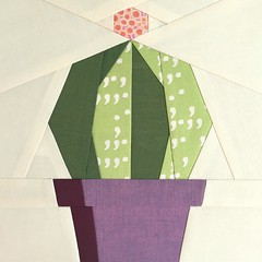 Echino Paper Piece Pattern (Modern Quilting by B) Tags: cactus paper pattern quilt mini block piece