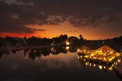 Sunset Kanchanaburi (SedatPhotography) Tags: sunset red sky by night river thailand photography lovely kanchanaburi landscpe restarant