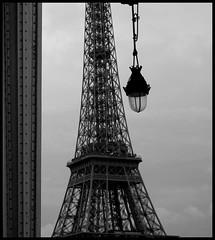 Eiffel tower - Bir Hakeim (lhoteln) Tags: blackandwhite white black paris france tower gris noir tour noiretblanc eiffel et blanc lampadaire nuances