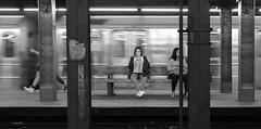 14th Street Subway, New York, NY, May, 2015 (Norm Powell (napowell30d)) Tags: nyc newyorkcity travel blackandwhite newyork subway fineart subwaystation 14thstreetsubway