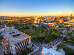 Downtown (RjayP Photography) Tags: sunset us downtown unitedstates knoxville tennessee aerial phantom birdseyeview skyview drone phantom3 dji dronephotography phantom3pro