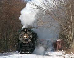 King Street (GLC 392) Tags: street railroad snow saint st mi train photo king branch lima michigan engine railway charles steam locomotive pm berkshire pere marquette charter berk 1225 284 owosso