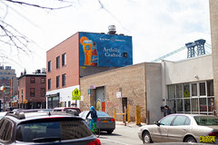 Blue Moon (Always Hand Paint) Tags: nyc beer advertising mural outdoor pedestrian pop final williamsburg ooh handpaint colossal bluemoon brookyln williamsburger colossalmedia muraladvertising b146 skyhighmurals alwayshandpaint kristalindahl