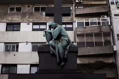 Statue/Apartment Block/Thinker Of Argentina