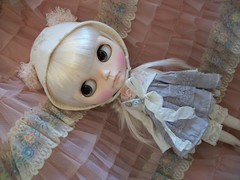 Play With Dolls.... (simplychictiques) Tags: adorable pastels pout blythe grumpy floss shabbychic rbl takaratomy customblythedoll jodiedollscustom ooakblythedoll airbrushfaceup blytheinhats tullepromdress cadencemajorettescalp goodygogobasedoll frecklesandpout