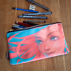 pencil case (kiddy factory) Tags: illustration wind pouch mywork pencilcase carryon society6