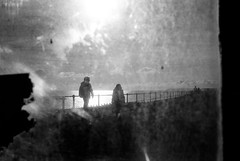Pike (lilyshot) Tags: film coast glare silhouettes hastings dirtyglass fujiv2