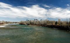 Bow River and Downtown Calgary Skyline April 2016 (jmichael100) Tags: calgary skyline river cityscape alberta bowriver calgaryskyline