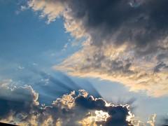 Blue rays in sunset (minimi007) Tags: sunset sky clouds canon skyscape schweiz zurich august snowscape g12 schwitzerland zurich canonpowershotg12