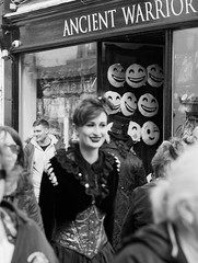 Whitby Gothic - Smiles (northsky) Tags: street people white black momo weekend gothic goth whitby april 2016
