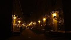 street of mirrors (JoannaRB2009) Tags: street winter building architecture night lights poland polska lodz d mirriors lodzkie dzkie