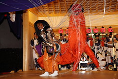 Spider's thread (Teruhide Tomori) Tags: festival japan night dance kyoto stage performance   tradition    rokusainenbutsu