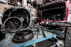 mechanics (andhf) Tags: old bus ride vehicles oil mecanica mechanics