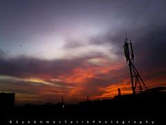 Silhouettes of Karachi. (Umer Tarik) Tags: pakistan sunset sky sun nature silhouette clouds photography karachi goldenhour photogrid mykarachi