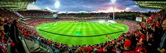 3-1 (*ScottyO*) Tags: sunset red panorama sports sport football championship cloudy action soccer united crowd australia flare adelaide southaustralia iphone adelaideoval aleague westernsydney wanders