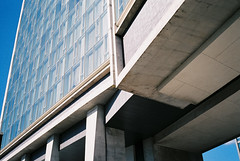 (beauty is selfless) Tags: nyc newyorkcity film architecture analog 35mm manhatten standardhotel contaxt2 frontiersp3000