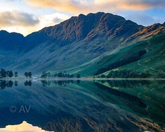 Buttermere awake.... (nickreed5) Tags: morning sun mountain lake sunrise unitedkingdom lakedistrict cumbria buttermere