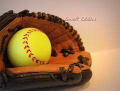 Softball/baseball glove cake topper fondant (Everett Edibles) Tags: art cake edible fondant caketoppers cakedecoration fondanttopper fondantcaketoppers