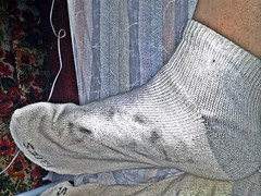 white/gray Hanes ankle sock 11 (nettie83_2000) Tags: socks sock dirty sweaty smelly hanes dirtysock