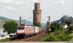 Crossrail 185 599-8 @ Oberwesel (Wouter De Haeck) Tags: frankfurt cargo containers koblenz rheinlandpfalz bombardier traxx gterzug crossrail mittelrhein oberwesel br185 linkerheinstrecke dbnetz f140ac2 kbs471 rheinstrecken