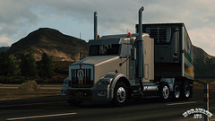 ats_00113 (ets2.morawatz) Tags: california road sun white hot west truck screenshot day desert nevada rig trailer semitruck sleeper ats kenworth t800 morawatz morawatztrucking americantrucksimulator